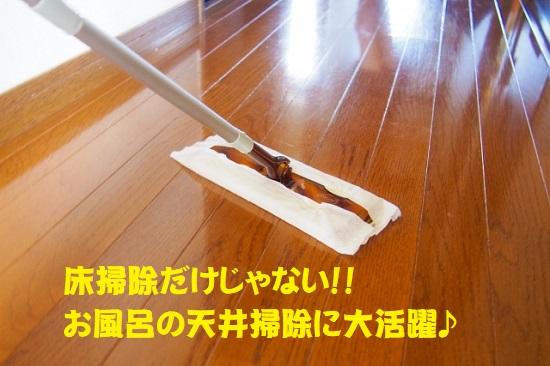 クイックルワイパーで天井のお掃除もできる